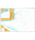 British Admiralty Nautical Chart 501 South East Approaches to Trinidad