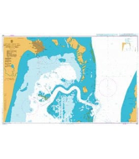 British Admiralty Nautical Chart 522 Belize City and Approaches