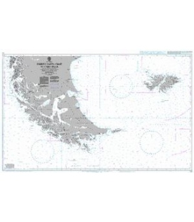 British Admiralty Nautical Chart 539 Puerto Santa Cruz to Cabo Pilar including the Falkland Islands