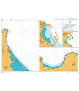 British Admiralty Nautical Chart 580 Al Hoceima, Melilla and Port Nador with Approaches