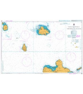 British Admiralty Nautical Chart 585 Nevis and Antigua to Northern Guadeloupe