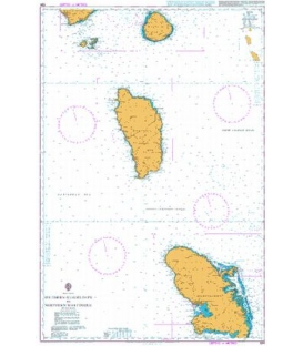 British Admiralty Nautical Chart 594 Southern Guadeloupe to Northern Martinique