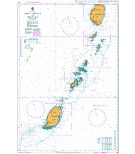 British Admiralty Nautical Chart 597 Saint Vincent to Grenada