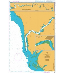 British Admiralty Nautical Chart 607 Riviere Saloum