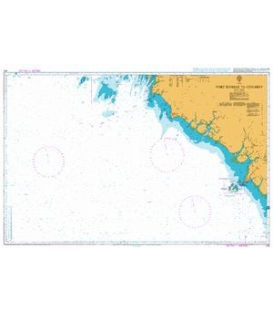 British Admiralty Nautical Chart 612 Port Kamsar to Conakry