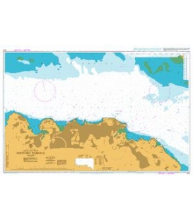British Admiralty Nautical Chart 614 Freetown Harbour