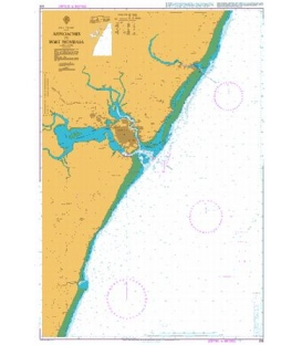 British Admiralty Nautical Chart 616 Approaches to Port Mombasa
