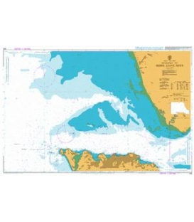 British Admiralty Nautical Chart 625 Entrance to Sierra Leone River