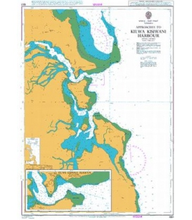 British Admiralty Nautical Chart 661 Approaches to Kilwa Kisiwani Harbour