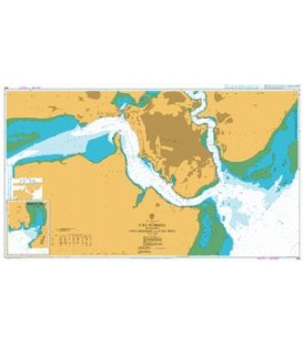 British Admiralty Nautical Chart 666 Port Mombasa including Port Kilindini and Port Reitz