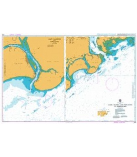 British Admiralty Nautical Chart 668 Lamu, Manda and Pate Bays and Approaches