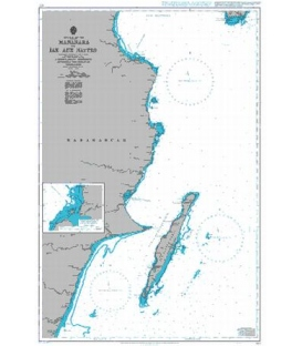 British Admiralty Nautical Chart 677 Mananara to Ile aux Nattes