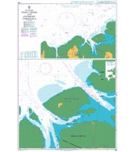 British Admiralty Nautical Chart 699 Sikka Creek and Offshore Terminals