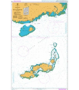 British Admiralty Nautical Chart 745 Kadavu to Suva Harbour