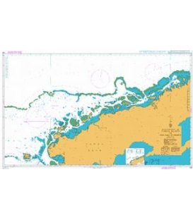 British Admiralty Nautical Chart 749 Yadua Island to Sau Sau Passage