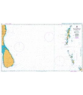 British Admiralty Nautical Chart 827 Bay of Bengal Southern Part
