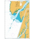 British Admiralty Nautical Chart  834 Burma - Pathein River and Approaches
