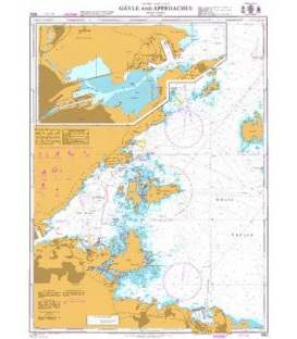 British Admiralty Nautical Chart 892 Gavle and Approaches