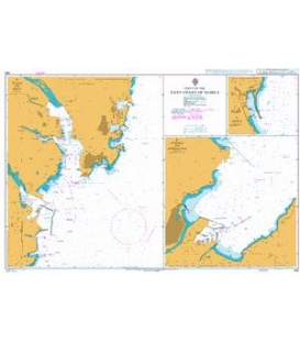 British Admiralty Nautical Chart 898 Ports on the East Coast of Korea