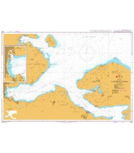 British Admiralty Nautical Chart 901 Aabenraa Fjord