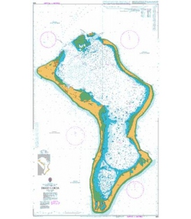 British Admiralty Nautical Chart 920 Diego Garcia
