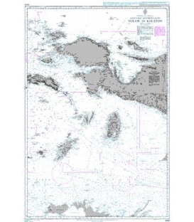 British Admiralty Nautical Chart 942B Eastern Archipelago Seram to Kolepon