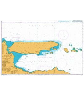 British Admiralty Nautical Chart 945 Selat Madura and Selat Sapudi including Madura