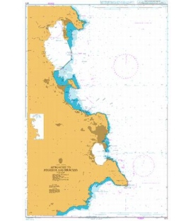 British Admiralty Nautical Chart 973 Approaches to Augusta and Siracusa