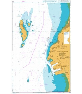 British Admiralty Nautical Chart  986 Ko Si Chang and Si Racha to Laem Chabang
