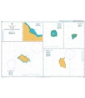 British Admiralty Nautical Chart 991 Plans in the South Pacific Ocean