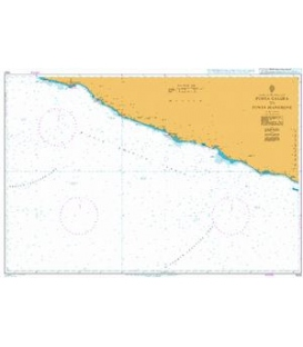British Admiralty Nautical Chart 1024 Punta Galera to Punta Mangrove