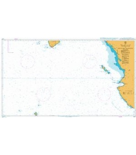 British Admiralty Nautical Chart 1027 Approaches to Golfo De California