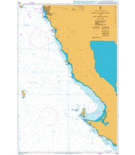 British Admiralty Nautical Chart 1029 Punta Abreojos to San Diego Bay