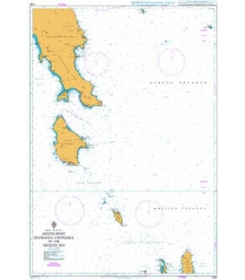 British Admiralty Nautical Chart 1030 South-West Entrance Channels to the Aegean Sea