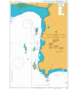 British Admiralty Nautical Chart 1046 Outer Approaches to Ports from Krung Thep to Map Ta Phut