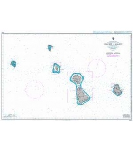 British Admiralty Nautical Chart 1060 Huahine to Maupiti