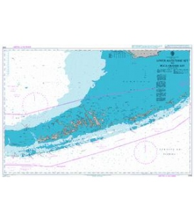 British Admiralty Nautical Chart 1098 Lower Matecumbe Key to Boca Grande Key