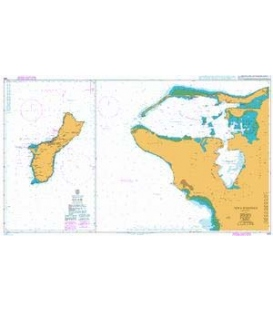 British Admiralty Nautical Chart 1109 Guam