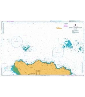 British Admiralty Nautical Chart 1136 Jersey - North Coast