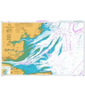 British Admiralty Nautical Chart 1183 Thames Estuary