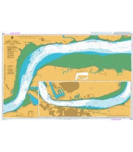 British Admiralty Nautical Chart 1186 River Thames Canvey Island to Tilbury