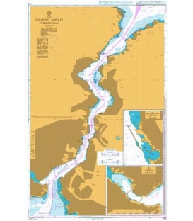 British Admiralty Nautical Chart 1198 Istanbul Bogazi (The Bosporus)