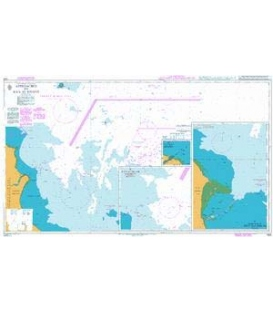 British Admiralty Nautical Chart 1224 Approaches to Ra's Al Khafji