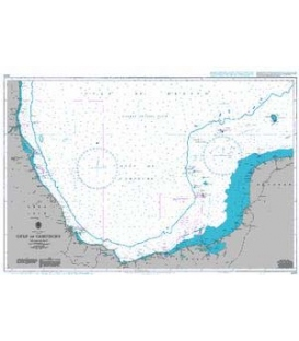British Admiralty Nautical Chart 1225 Gulf of Campeche
