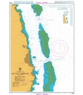 British Admiralty Nautical Chart 1244 Levuka Harbour