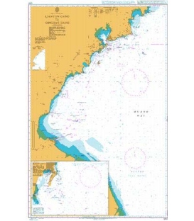 British Admiralty Nautical Chart 1253 Lianyun Gang to Qingdao Gang