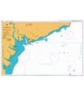 Britsh Admiralty Nautical Chart 1261 Approaches to Song Sai Gon