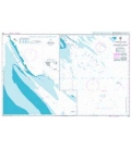 British Admiralty Nautical Chart 1268 Approaches to Khowr-e Musa