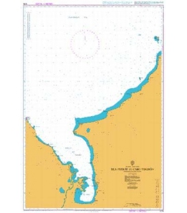 British Admiralty Nautical Chart 1278 Isla Fuerte to Cabo Tiburon including Golfo de Uraba