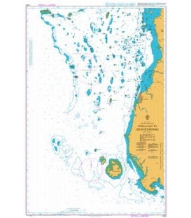 Britsh Admiralty Nautical Chart 1293 Approaches to Ujungpandang